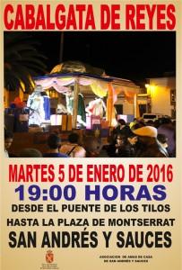 Cabalgata de Reyes en San Andrés y Sauces. 5 de enero de 2016. 19:00h.