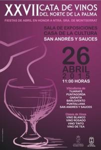 XXVII Cata de Vinos del Norte de La Palma. Domingo 26 de Abril