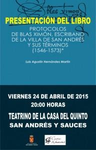 Presentación del Libro Protocolos de Blás Ximón, Viernes 24 de Abril
