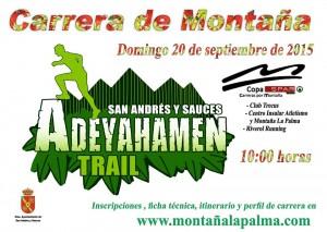 """20 septiembre. Carrera de Montaña """"Adeyahamen Trail"""" San Andrés y Sauces"""