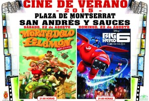 Cine de Verano 2015. San Andrés y Sauces. 21:00 h. 22 y 23 de agosto. Mortadelo y Filemón. Big Hero 6