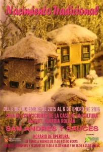Nacimiento Tradicional San Andrés y Sauces. Del 8 de Dic. al 6 de Enero.