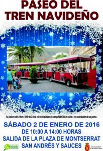 Paseo del tren navideño San Andrés y S auces 2 de enero de 2016