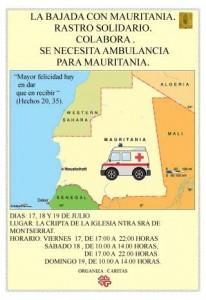Rastro Solidario para Ambulancia en Mauritania. 17,18 y 19 de Julio 2015. Cripta de la Iglesia de Ntr. Señora de Montserrat. San Andrés y Sauces.