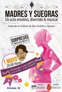Madres y Suegras Teatro Musical. Casa de la Cultura de San Andrés y Sauces. 1 Mayo 2015