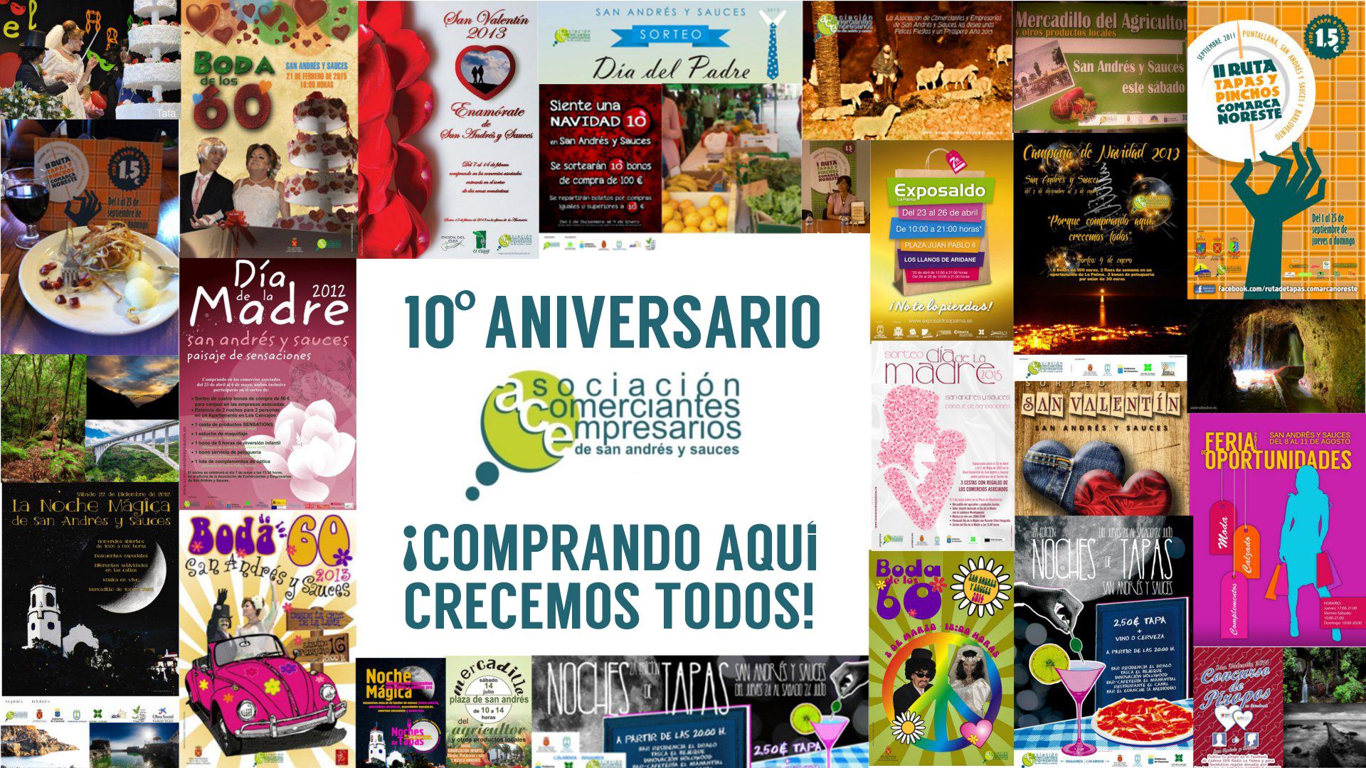 ACE San Andrés y Sauces celebra su décimo aniversario trabajando para que la zona comercial abierta esté más viva que nunca