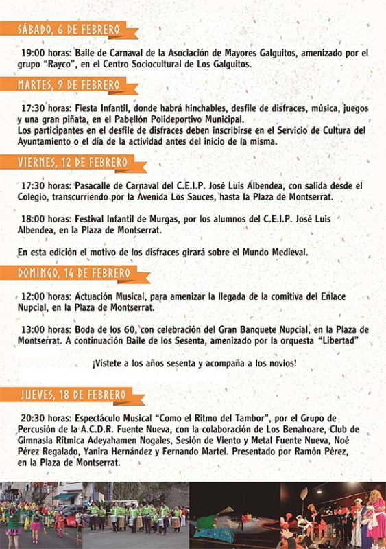 Carnaval 2016 en San Andrés y Sauces