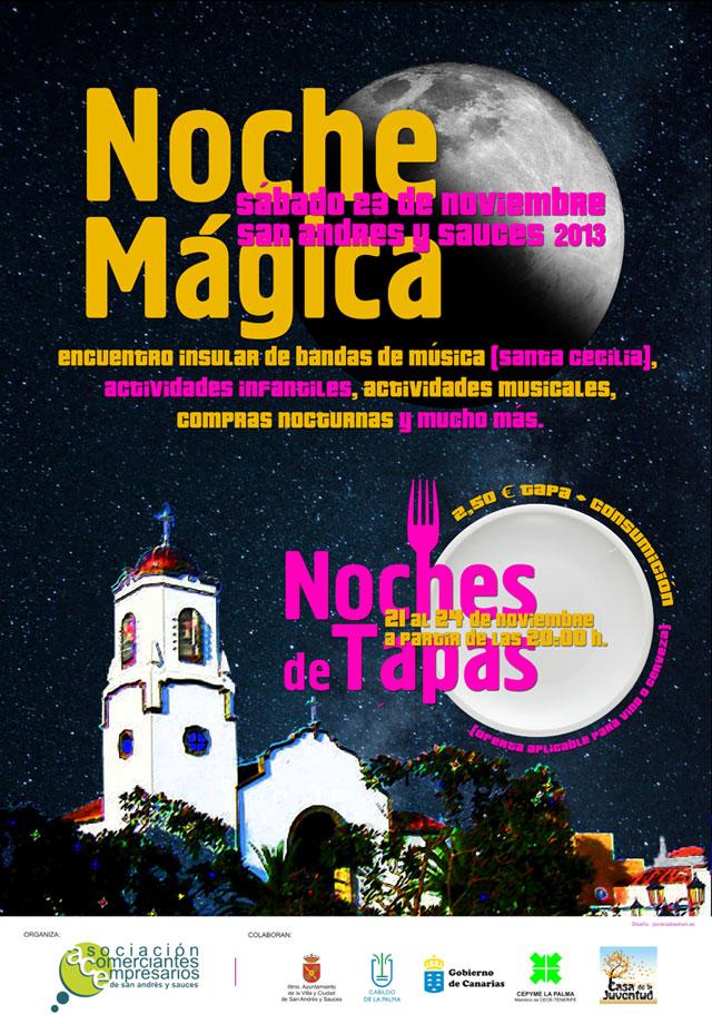 Cartel Noche Mágica 2013 · ACE San Andrés y Sauces