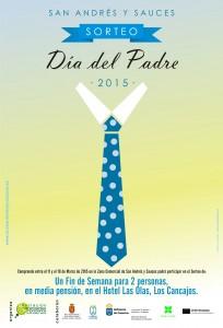 Cartel Campaña Día del Padre 2015 en San Andrés y Sauces