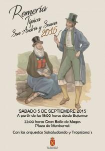 5 Septiembre. 18:00h. Romería Típica San Andrés y Sauces 2015. 22:00h. Gran Baile de Magos.
