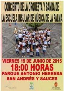 Concierto Escuela Insular de Música. 19 de junio 2015. San Andrés y Sauces