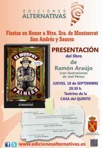 Presentación del libro de Ramón Araújo. 10 de Septiembre. 20:30 h. Teatrino de la Casa del Quinto. San Andrés y Sauces