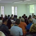 El público asistente participa activamente. #EmprenderLaPalma