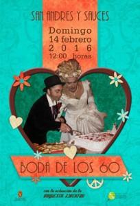 Boda de los 60. Carnaval 2016 en San Andrés y Sauces. Domingo 14 de Febrero de 2016 a las 12:00 h.